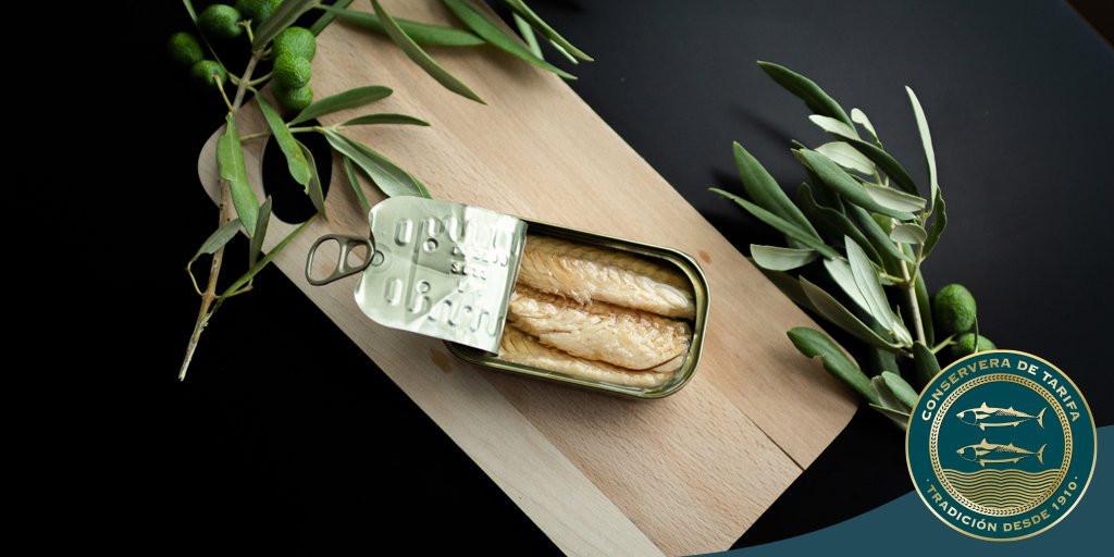 Makrele in Olivenöl Qualitäts Fischdosen aus Spanien