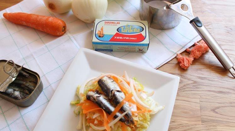 Ölsardinen Salat Rezept
