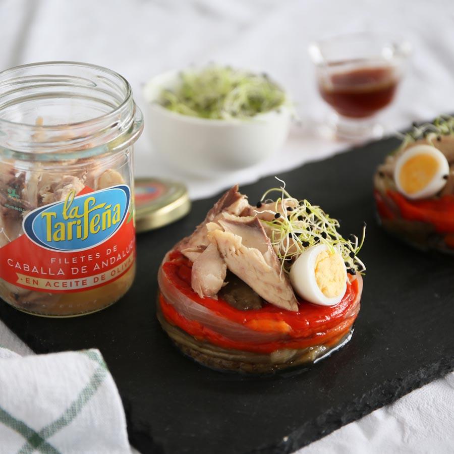 Spanische Tapas Makrele